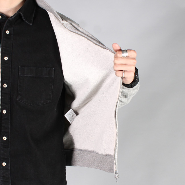 FELCO (フェルコ)  FRENCH TERRY AWARD COLLAR ZIP FRONT JACKET