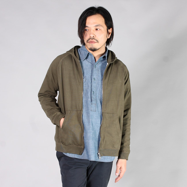 FELCO (フェルコ)  RAGLAN SLEEVE ZIP HOODED SUPER HARD JERSEY