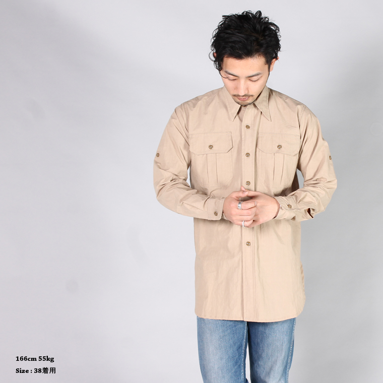 YARMO (ヤーモ)  OFFICER SHIRTS / BEIGE