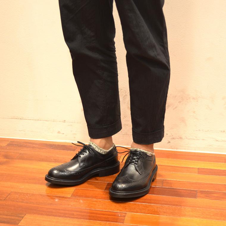 Tricker's トリッカーズ,ロングウイングシューズ ブラック 短靴 イギリス製 革靴 メンズファッション トラッド系,通販 通信販売