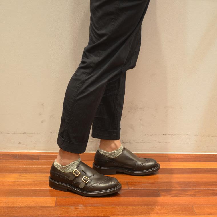 Tricker's トリッカーズ,ダブルモンクシューズ ウイングチップ エスプレッソ 短靴 イギリス製 革靴 メンズファッション トラッド系,通販 通信販売