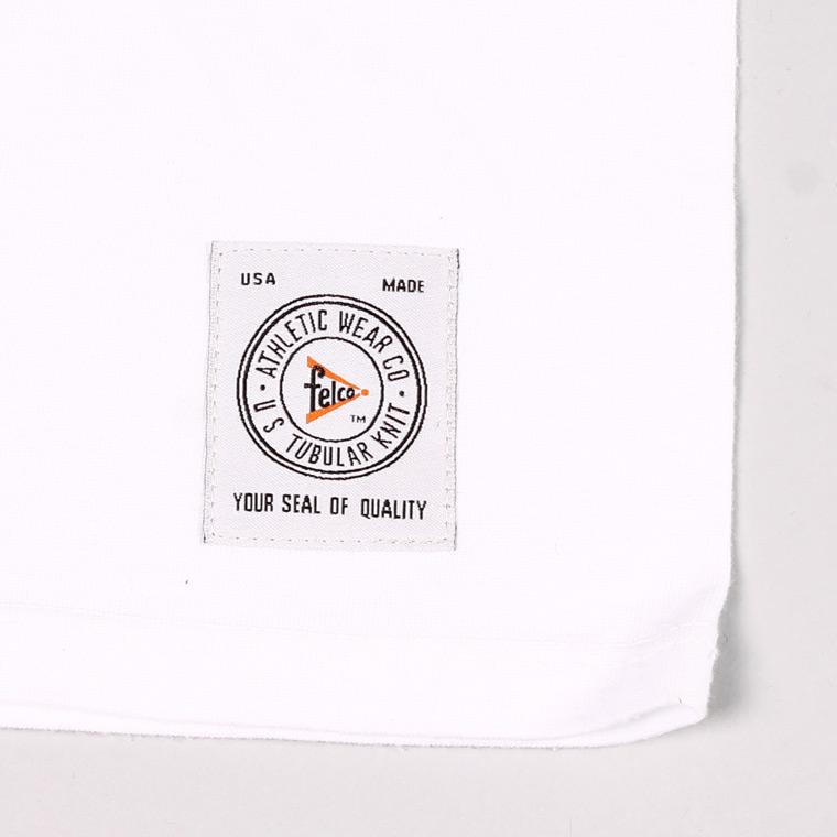 FELCO (フェルコ)  S/S V NECK POCKET T SHIRT / WHITE
