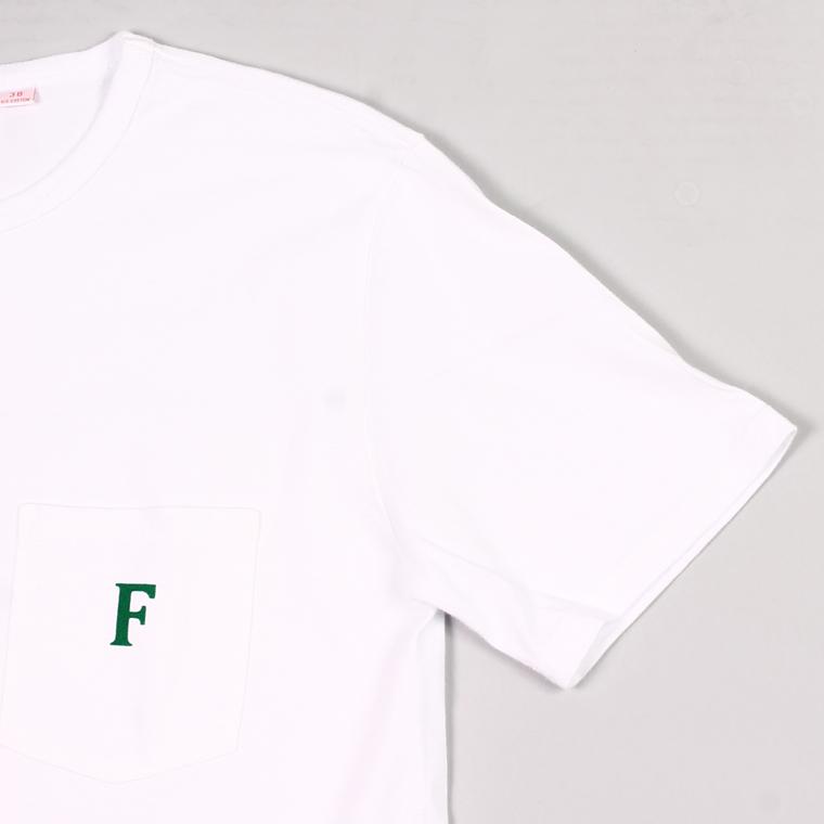 FELCO (フェルコ)  S/S CREW POCKET-T F PRINT - WHITE_LEAF GREEN