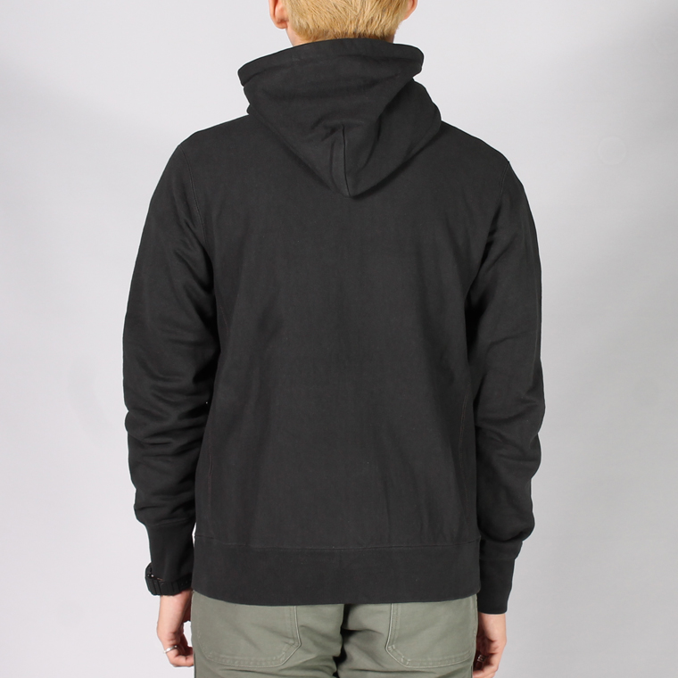 FELCO (フェルコ)  INVERSE WEAVE HIGH NECK FULL ZIP PARKA HEAVY WEIGHT TERRY / BLACK