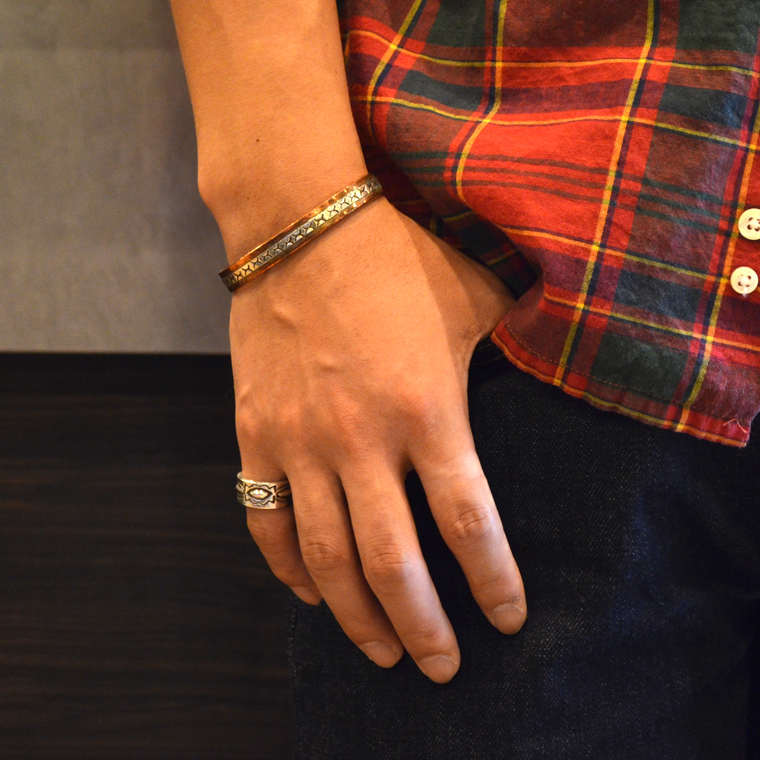 INDIAN JEWELRY (インディアンジュエリー)  SS COPPER BRAC 1/4 / WILEY SECATERO