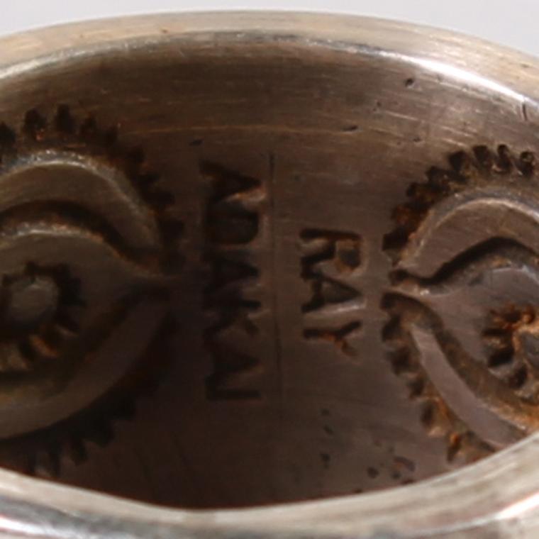 INDIAN JEWELRY (インディアンジュエリー)  INLAY RING / RAY ADAKAI [11号]