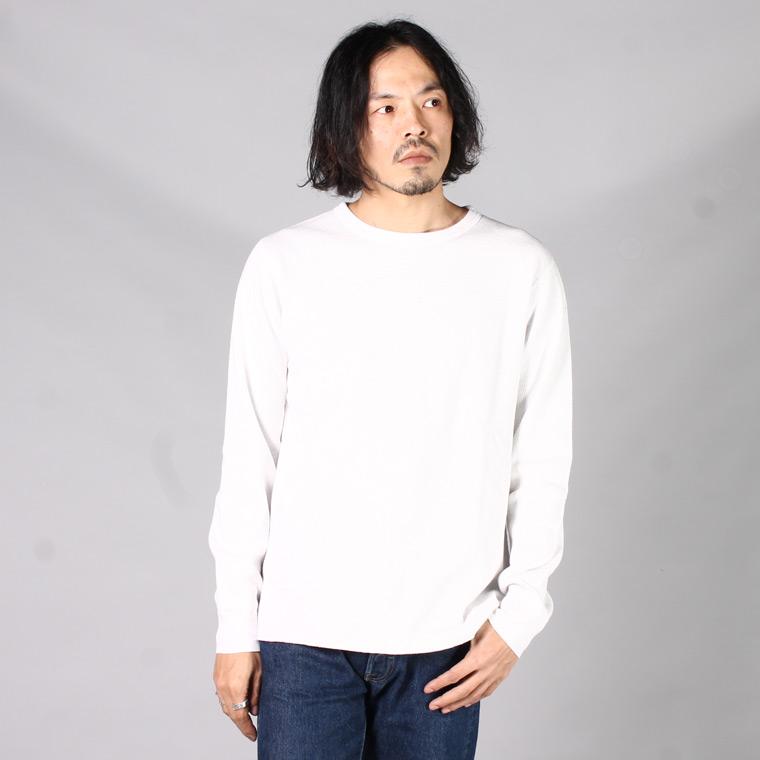 FIL MELANGE フィルメランジェ,DREW2 ドリュー2 サーマルカットソー ロンT 長袖Tシャツ ホワイト 日本製 国産 メンズファッション,通販 通信販売