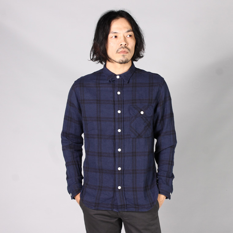 EMPIRE & SONS エンパイアアンドサンズ,ワークシャツ ヘリンボーンチェック 日本製 国産 メンズファッション,通販 通信販売