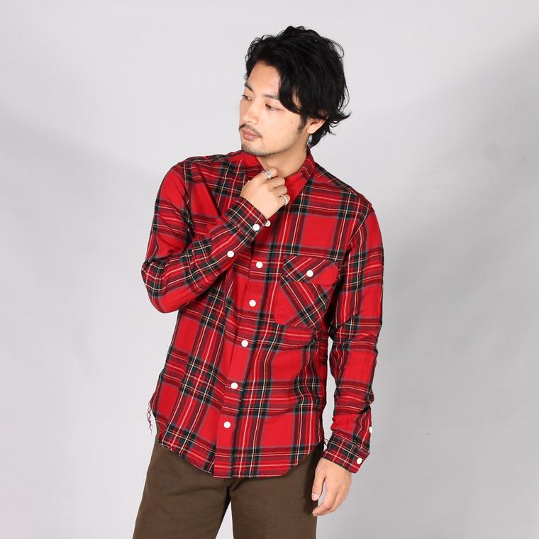 EMPIRE & SONS エンパイアアンドサンズ,ワークシャツ フランネルチェック 日本製 国産 メンズファッション,通販 通信販売