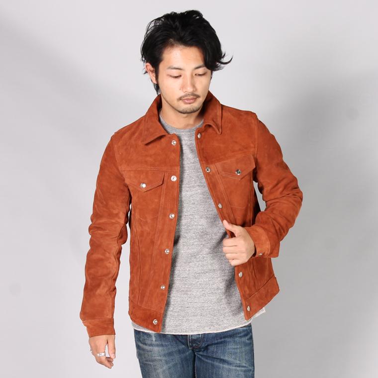 VANSON バンソン,レザージャケット スウェード ブラウン アメリカ製 メンズファッション アメカジ,通販 通信販売