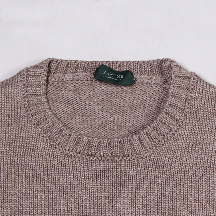 ZANONE(ザノーネ)  GIRO IF - ROUND NECK - TORTORA