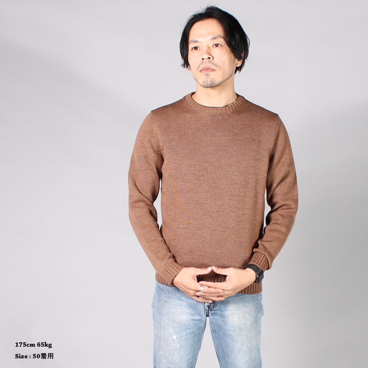 ZANONE(ザノーネ)  GIRO IF - ROUND NECK - NOCE