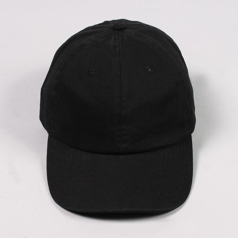 BAYSIDE (ベイサイド)  UNSTRUCURED WASHED TWILL CAP / BLACK