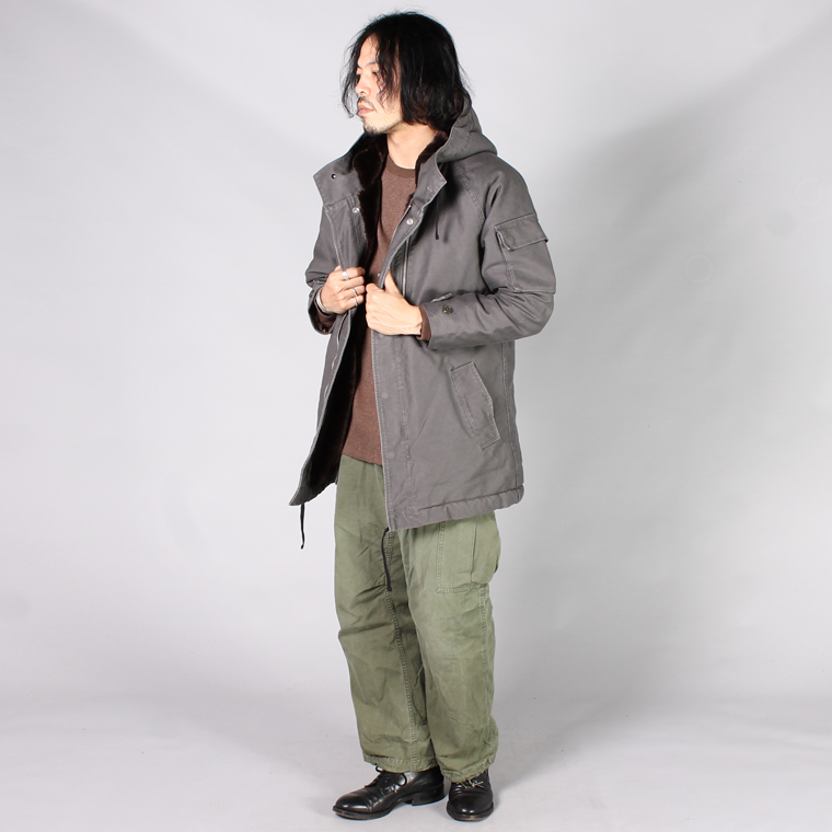 R&VINTAGE (アールアンドヴィンテージ)  FRENCH PARKA WHIPCOAD w/BOA LINING WSLEEVE THINSULATE - OLIVE/GREY