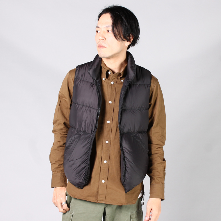 CRESCENT DOWN WORKS (クレセントダウンワークス)  NORTH BY NORTHWEST VEST SF/SF - BLACK/BLACK