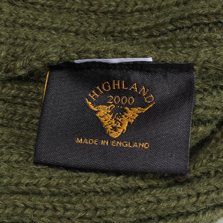 HIGHLAND 2000 (ハイランド2000)  2×1 WATCH CAP ALPACA BRITISH WOOL - OLIVE