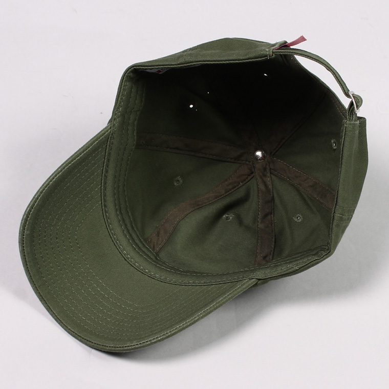 BAYSIDE (ベイサイド)  UNSTRUCURED WASHED TWILL CAP w/WAPPEN - OLIVE/ PARM SPRINGS