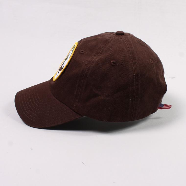 BAYSIDE (ベイサイド)  UNSTRUCURED WASHED TWILL CAP w/WAPPEN - CHOCOLATE/ ARIZONA