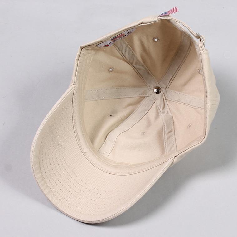 BAYSIDE (ベイサイド)  UNSTRUCURED WASHED TWILL CAP w/WAPPEN - STONE/ CAL 1/ REPUBLIC