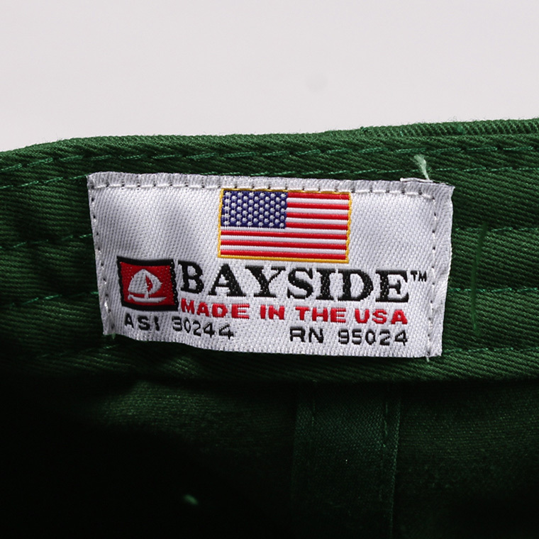 BAYSIDE (ベイサイド)  UNSTRUCURED WASHED TWILL CAP w/WAPPEN - FOREST/ ARIZONA