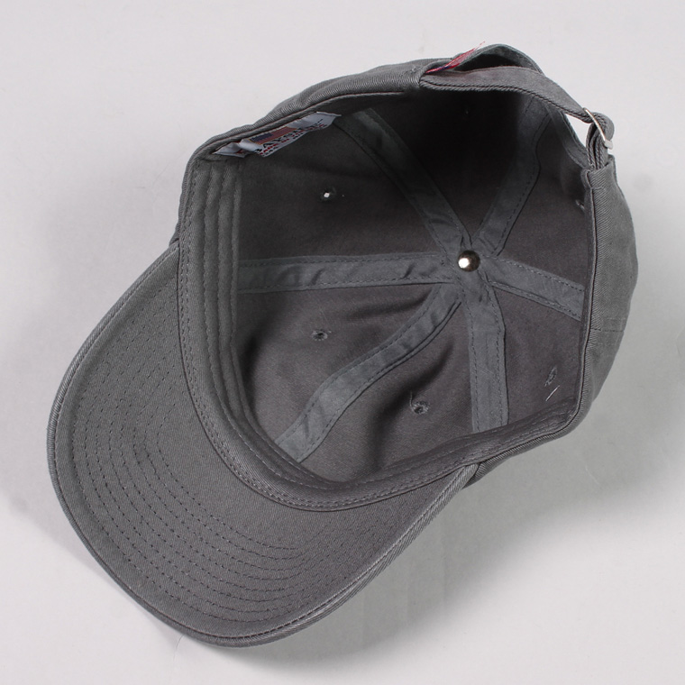 BAYSIDE (ベイサイド)  UNSTRUCURED WASHED TWILL CAP w/WAPPEN - CHARCOAL / CAL DEPARTMENT