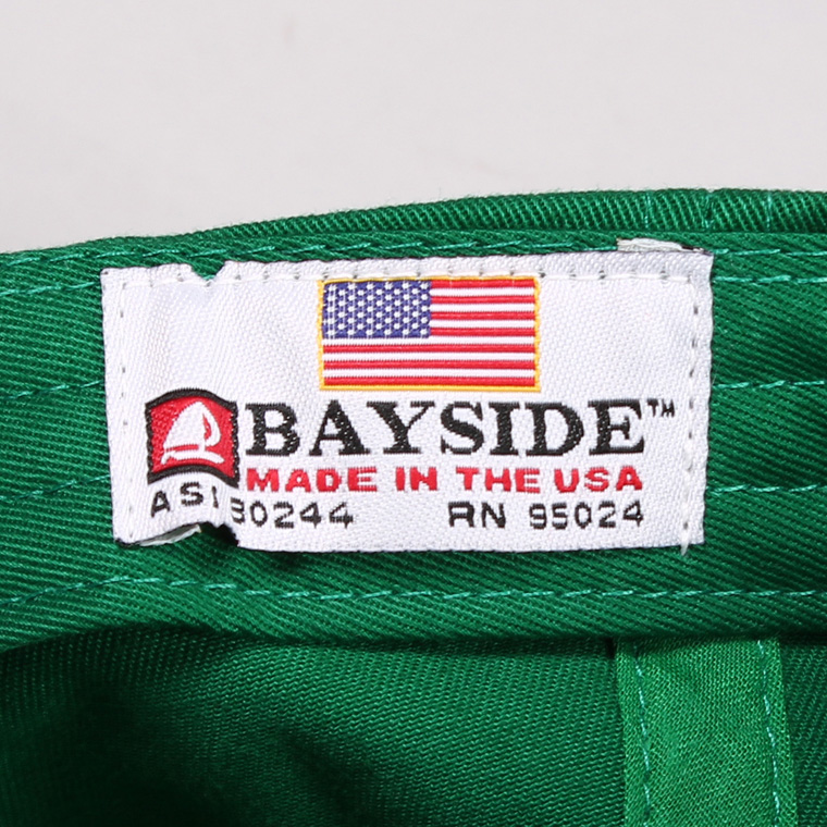 BAYSIDE (ベイサイド)  UNSTRUCURED WASHED TWILL CAP w/WAPPEN - KELLY / CAL 1