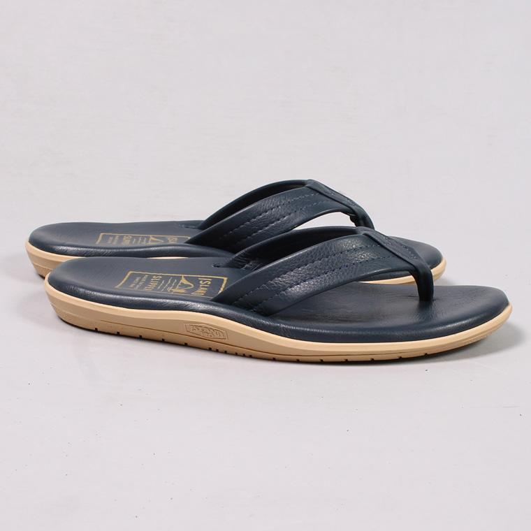 ISLAND SLIPPER (アイランドスリッパー)  LEATHER SANDAL - NAVY
