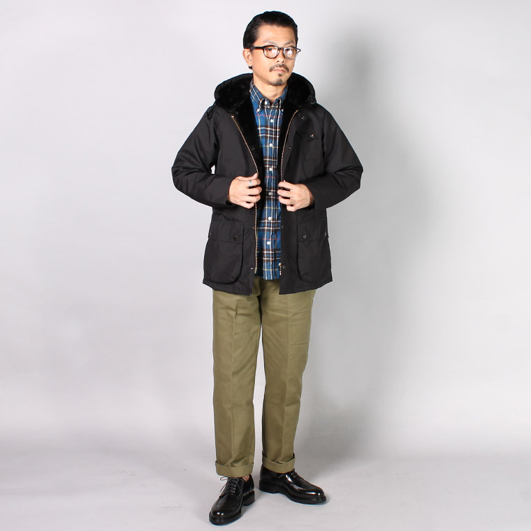 BARBOUR(バブァー)  HOODED BEDALE SL - BLACK