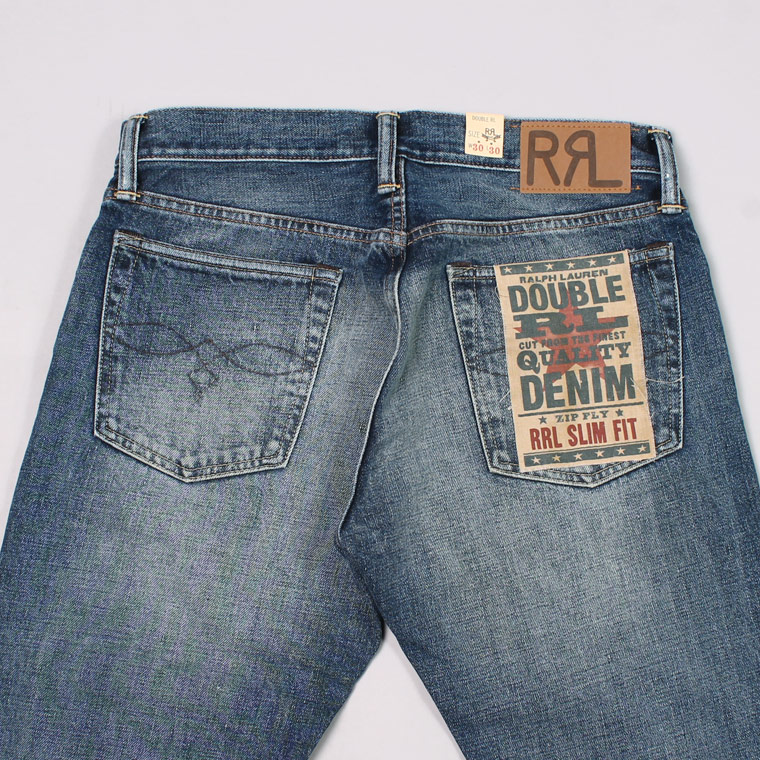 494c24417beb RRL Ralph Lauren (ダブル アールエル ラルフローレン) SLIM FIT 5 POCKET DENIM - BLUE