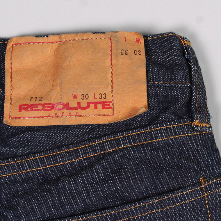 RESOLUTE(リゾルト)712 ONE WASH - LENGTH 31 [WAIST26-34]