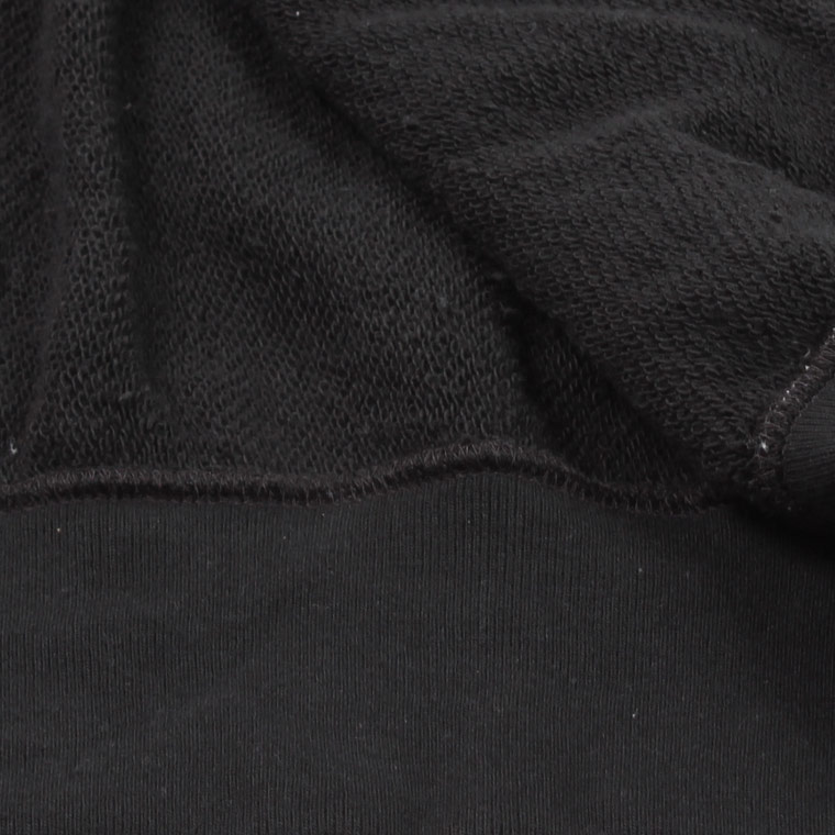 FELCO (フェルコ)  BASEBALL NECK SNAP BUTTON JACKET INVERSE WEAVE 16oz HEAVY WEIGHT TERRRY - BLACK