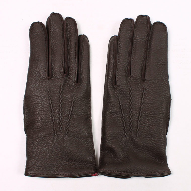 DENTS(デンツ)  WALTON DEERSKIN CAMEL HAIR LINED GLOVE - BARK_BLUE