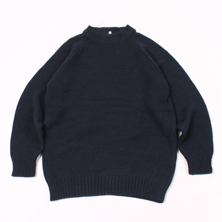HIGHLAND 2000 (ハイランド2000)  5G SB ALPACA_ACRYLIC CREW NECK SWEATER - NAVY