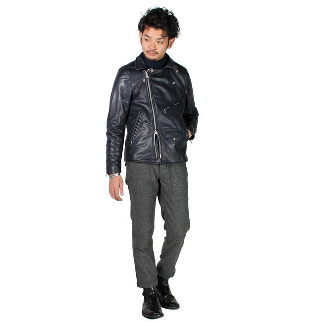 【VANSON】 C2-SLIM FITTED SOFT COW LEATHER