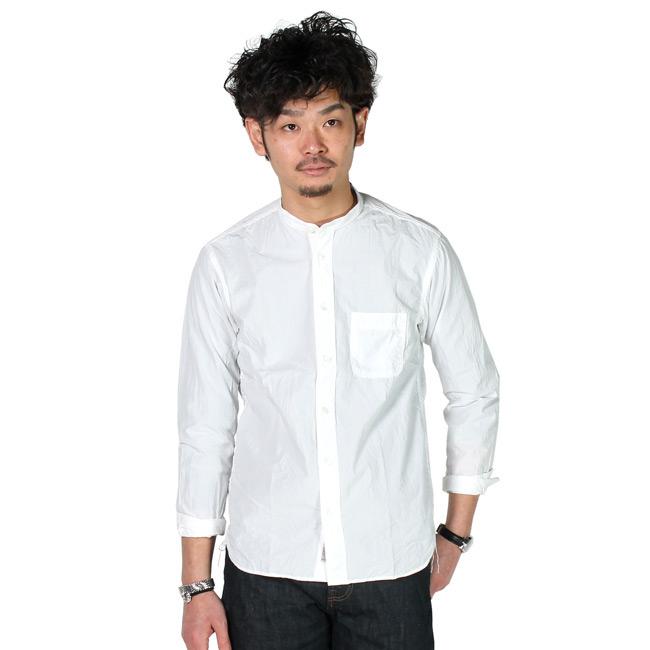 KEATON CHASE-WORK キートンチェイスワーク,スタンドカラー 白シャツ メンズ,通販