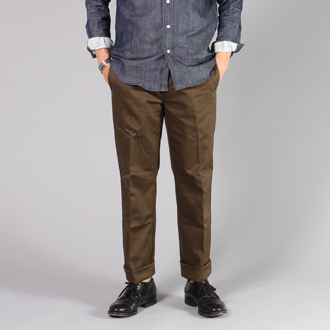 【INCOTEX】 PIECE DYED TWILL TROUSER