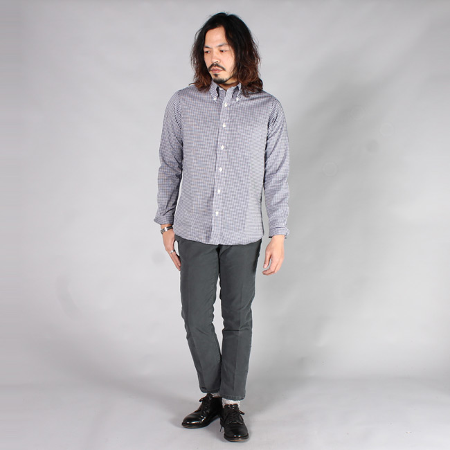 KEATON CHASE USA (キートンチェイスUSA)  L/S BD GINGHAM CHECK SHIRT w/LIGHT LINING COLLAR