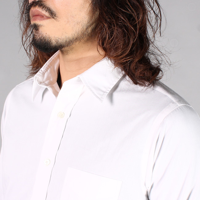 KEATON CHASE USA (キートンチェイスUSA)  L/S REGULAR COLLAR POPLIN SHIRT w/LIGHT LINING COLLAR / WHITE