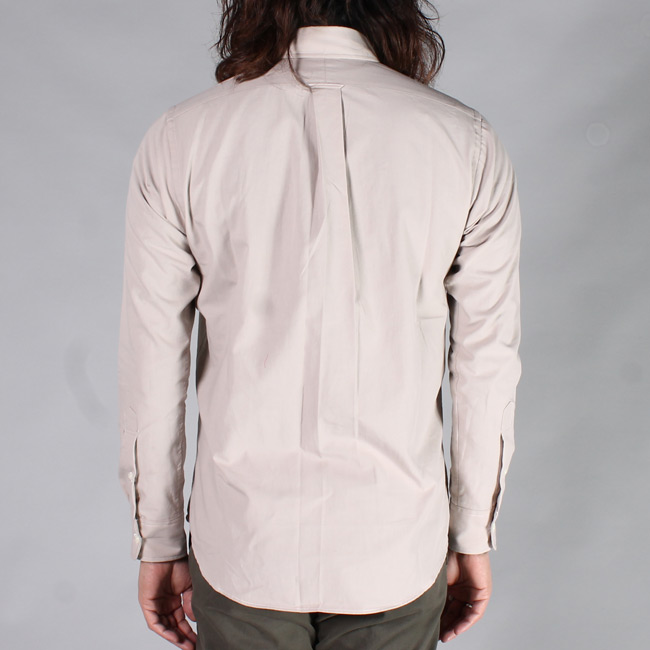 KEATON CHASE USA (キートンチェイスUSA)  L/S REGULAR COLLAR POPLIN SHIRT w/LIGHT LINING COLLAR / TAUPE