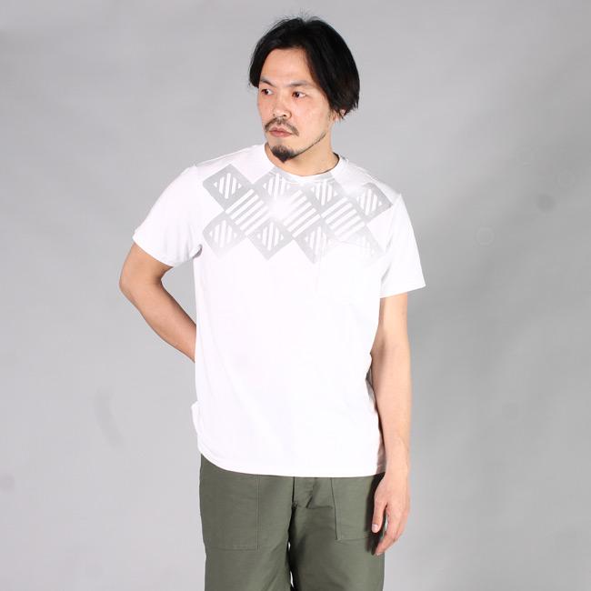 ENGINEERED GARMENTS エンジニアドガーメンツ エンジニアードガーメンツ,VC244 PRINTED CROSS CREW NECK T-SHIRT Tシャツ 2017春夏新作 アメリカ製 メンズファッション,通販 通信販売