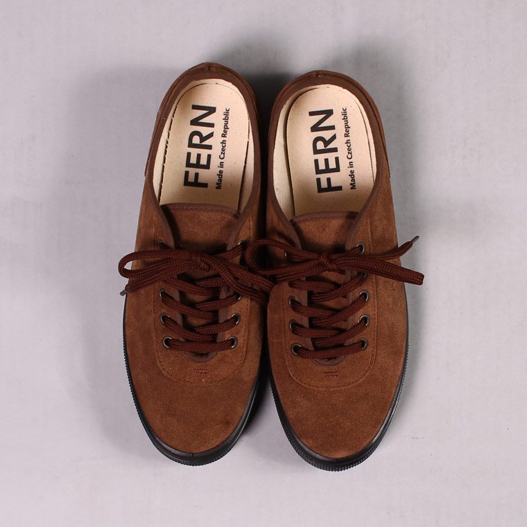FERN (ファーン)  LACE MODEL - SUEDE DATE/BLACK SOLE