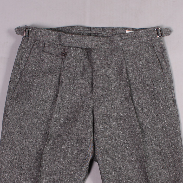 INCOTEX (インコテックス)  ONE PLEATS YARN DYED LINEN/SILK ICE DONEGAL TROUSER