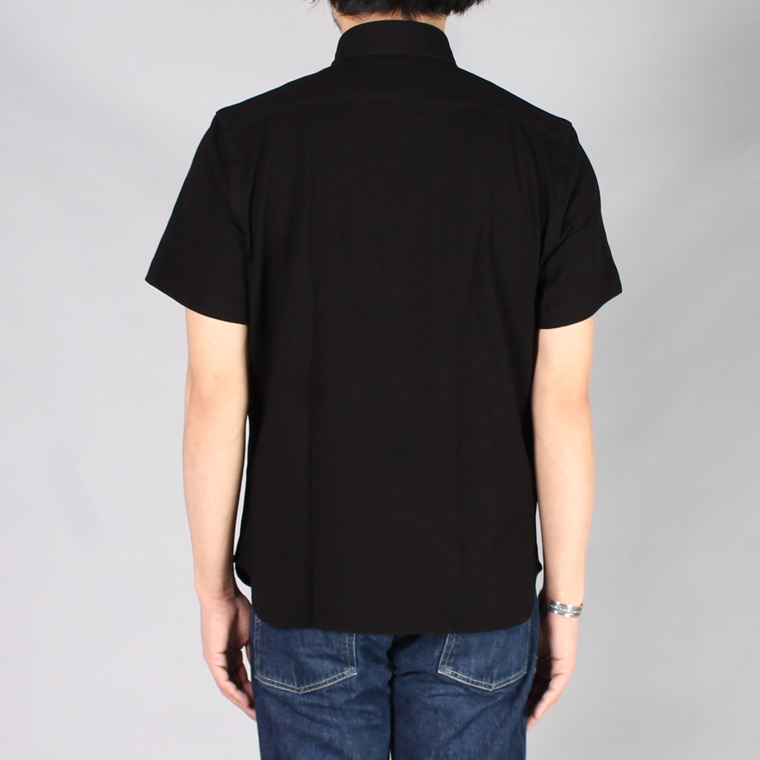GUY ROVER (ギローバー)  S/S REG COLLAR PIQUE ROUND POLO SHIRT / BLACK