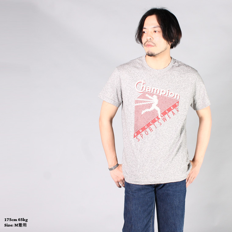 TODD SNYDER×CHAMPION (トッドスナイダー×チャンピオン)  SS PRINT TEE - CHAMPION PROCESSED SPORTSWEAR / ANTIQUE GREY MIX_GY16