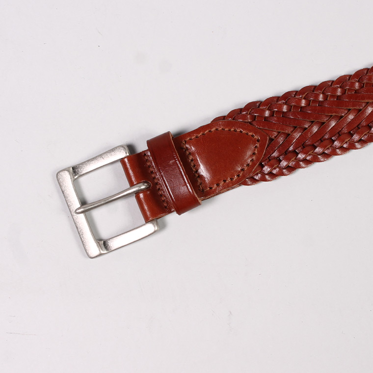 ANGLO (アングロ)  35mm 13PLY BRAIDED BELT / PAPAYA