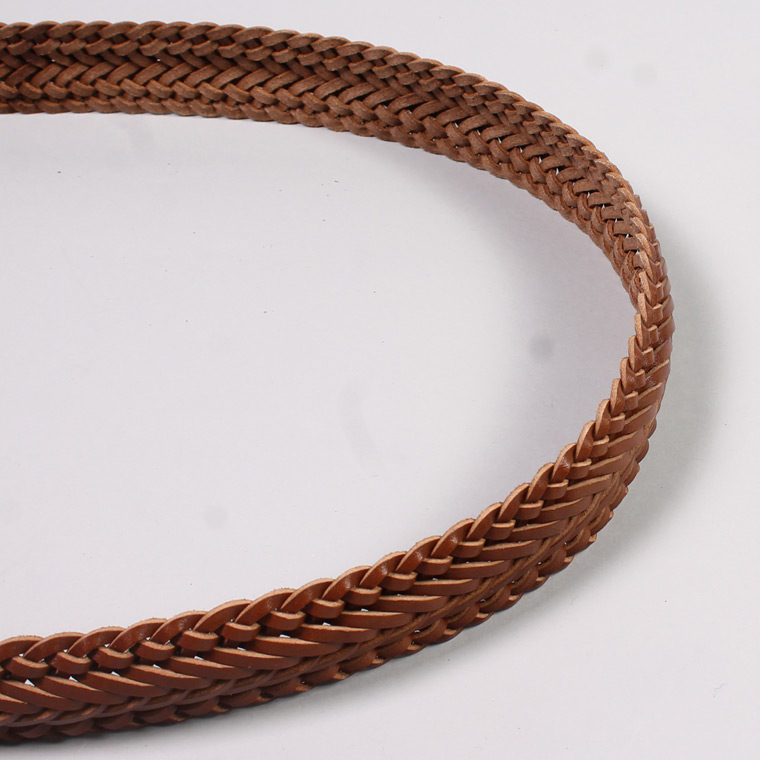 ANGLO (アングロ)  35mm 13PLY BRAIDED BELT / SAFARI