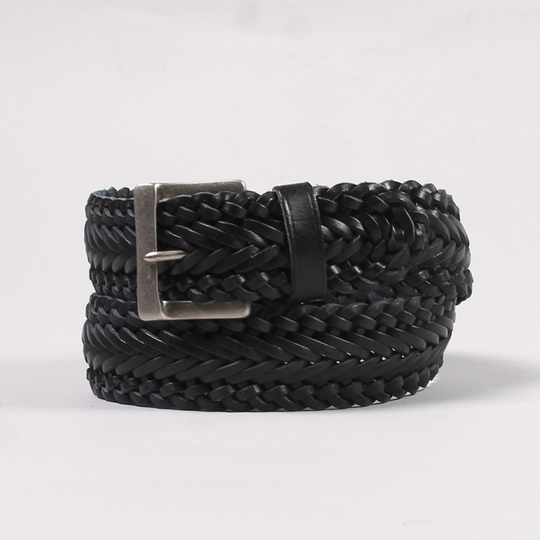 ANGLO (アングロ)  35mm 13PLY BRAIDED BELT / DK NAVY
