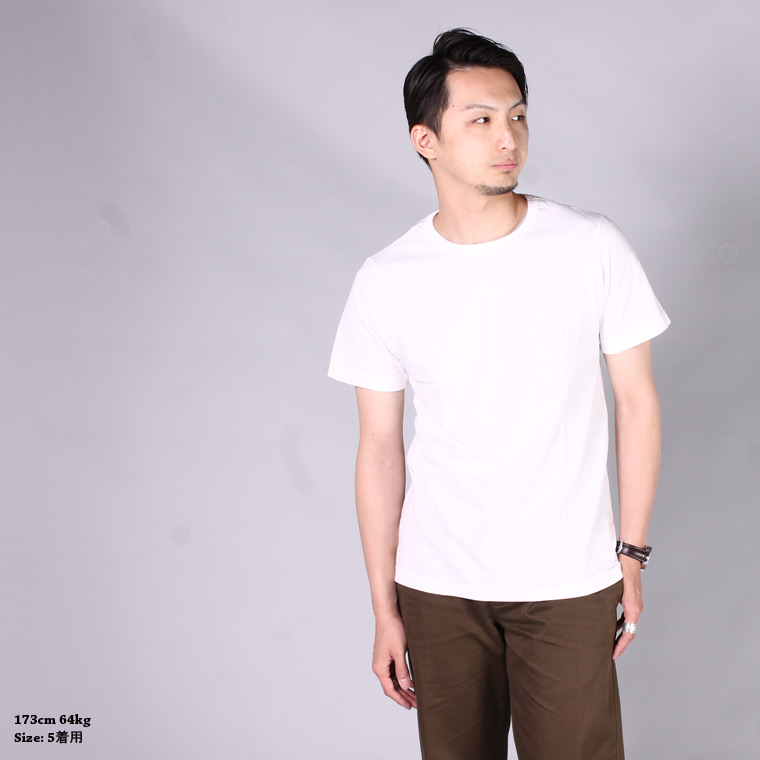 Merz b. Schwanen (メルツベーシュバーネン)  1950s S/S CREW NECK T-SHIRT / WHITE