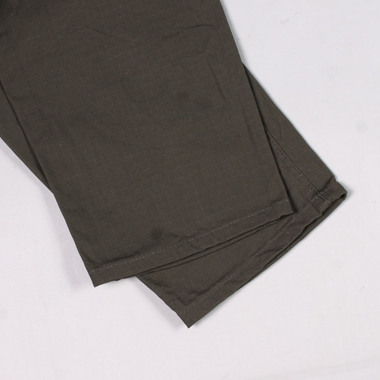 GUNG-HO (ガンホー)  RIP STOP TAPER FIT 4POCKET FATIGUE PANT - VINTAGE LABEL / OD