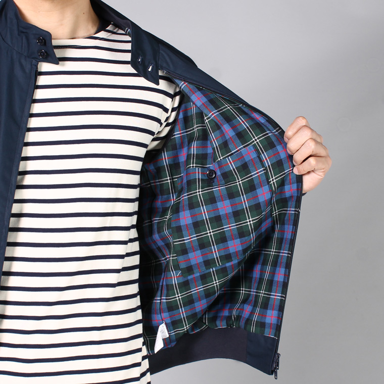 TRAFALGAR SHIELD (トラファルガーシールド)  T-9 HARRINGTON JACKET-ROSE TARTAN LINING - DK NAVY